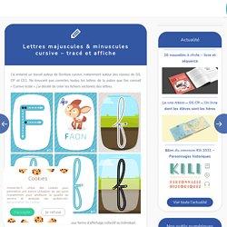 Lettres majuscules & minuscules cursive – tracé et affiche