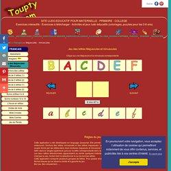 Jeux des lettres majuscules et minuscules - toupty.com