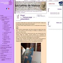 Projet « marque-page » : présentation