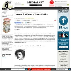 Lettres à Milena - Franz Kafka