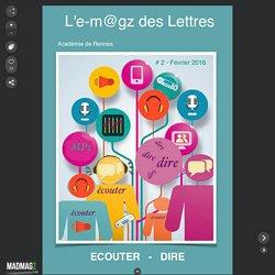 L'e-m@gz des Lettres - Numéro 2 écouter - dire