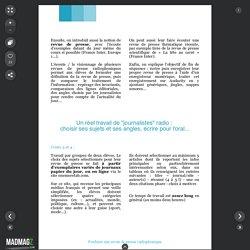 Réaliser une revue de presse radiophonique (p. 25)