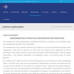 Lettres et philosophie -Lycée Saint-Louis, Paris VI