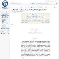 Lettres d'Abélard et d'Héloïse/Lettre quatrième