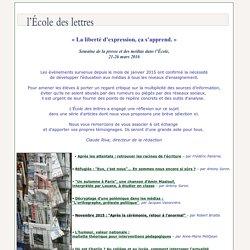 L'ECOLE DES LETTRES – Sélection d'articles sur la liberté d'expression