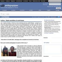 Lettres : Sujets sensibles et numériques