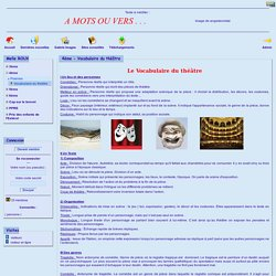 Site de Lettres du collège Villeneuve, Fréjus - 4ème - Vocabulaire du théâtre