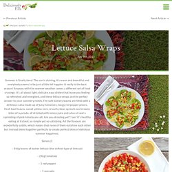 Lettuce Salsa Wraps