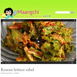 Korean lettuce salad (Sangchu-geotjeori) recipe