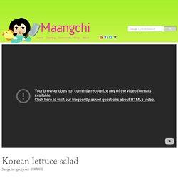 Korean lettuce salad (Sangchu-geotjeori) recipe