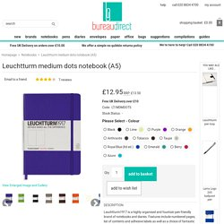 Leuchtturm medium dots notebook (A5) from Bureau Direct