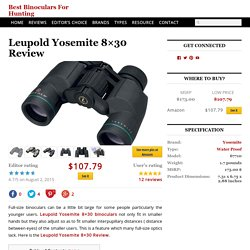 Leupold Yosemite 8x30 Review
