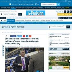 Levallois : des «anomalies» sur 117 millions d'euros dans la gestion de Patrick Balkany