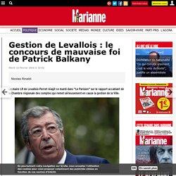 Gestion de Levallois : le concours de mauvaise foi de Patrick Balkany