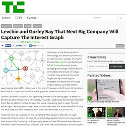 Levchin and Gurley Say That Next Big Company Will Capture The Interest Graph