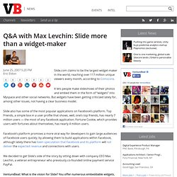 Q&A with Max Levchin: Slide more than a widget-maker
