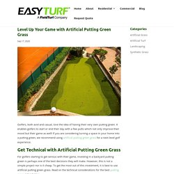 Level Up Your Game with Artificial Putting Green Grass - Artificial Grass in Miami, FL