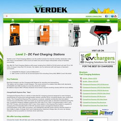 Electric Vehicle Charging Services - Verdek