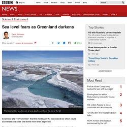 Sea level fears as Greenland darkens