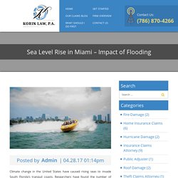 Sea Level Rise in Miami - Impact of Flooding - Korin Law