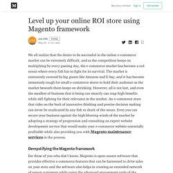 Level up your online ROI store using Magento framework