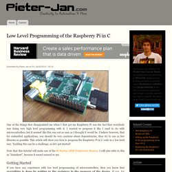 Low Level Programming of the Raspberry Pi in C