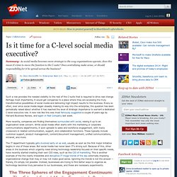 Is it time for a C-level social media executive?