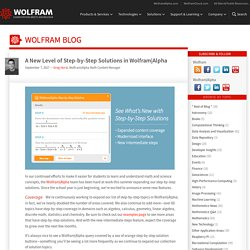A New Level of Step-by-Step Solutions in Wolfram