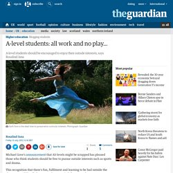 A-level students: all work and no play...