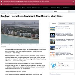 Sea level rise will swallow Miami, New Orleans, study finds