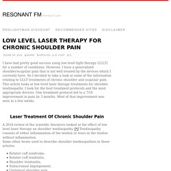 Low Level Laser Therapy For Chronic Shoulder Pain