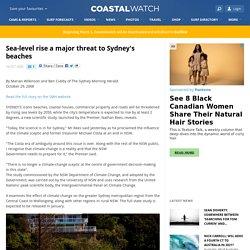 Sea-level rise a major threat to Sydney's beaches