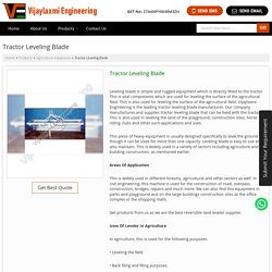 Tractor Leveling Blade Manufacturer Supplier in Nagpur India