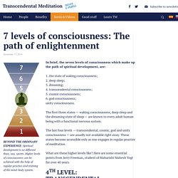 7 LEVELS OF CONSCIOUSNESS: Know the potential of your mind