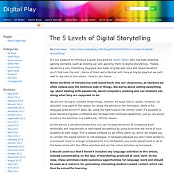 The 5 Levels of Digital Storytelling