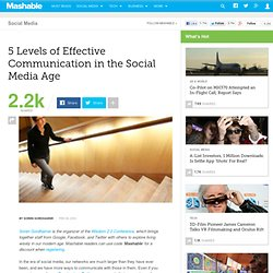 5 Levels of Effective Communication in the Social Media Age