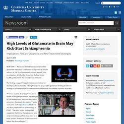 High Levels of Glutamate in Brain May Kick-Start Schizophrenia