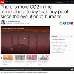 CO2 levels higher than any point since the evolution of humans