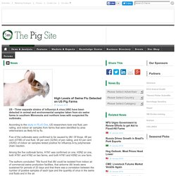 PIGSITE 25/01/16 High Levels of Swine Flu Detected on US Pig Farms
