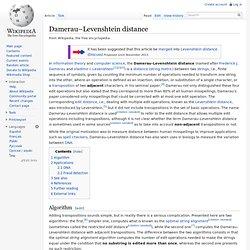 Damerau–Levenshtein distance