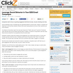 Leverage Social Behavior in Your B2B Email Campaigns