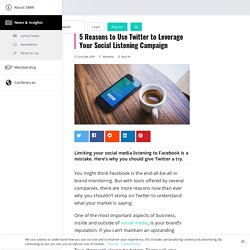 5 Reasons to Use Twitter to Leverage Your Social Listening Campaign