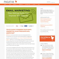 4 Reasons To Leverage Audio into your Email Marketing Campaign