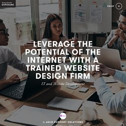 Leverage The Potential Of The Internet With A Trained Website Design Firm by Agio Support Solutions - Exposure
