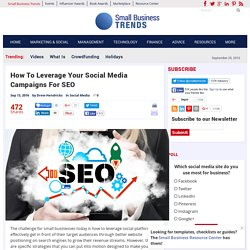 How To Leverage Your Social Media Campaigns For SEO