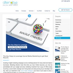 The Key Steps to Leverage Social Media Marketing