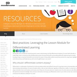 Best practices: Leveraging the Lesson Module for Differentiated Learning
