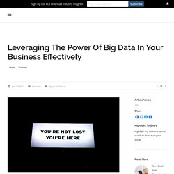 How to grow a business using big data?