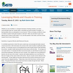 Leveraging Words and Visuals in Training