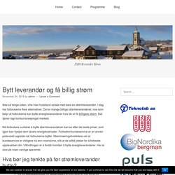 Bytt leverandør og få billig strøm – NBSKontaktmote